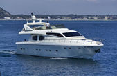 Italy, luxury yacht, Tirrenian sea, Rizzardi 65 — Stock Photo