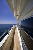 Italy, S.Felice Circeo, luxury yacht Rizzardi Posillipo Technema 95 — Stock Photo