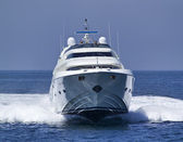 Italien, s.felice circeo, luxus yacht rizzardi posillipo technema 95 — Stockfoto