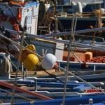 Italy, Sicily, Marina di Ragusa, fishing boats in the port — Stock Photo #6443744