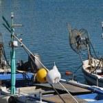Italy, Sicily, Marina di Ragusa, fishing boats in the port — Stock Photo #6443837