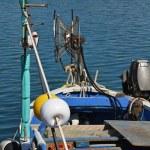 Italy, Sicily, Marina di Ragusa, fishing boat in the port — Stock Photo #6443877