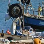 Italy, Sicily, Marina di Ragusa, fishing boats in the port — Stock Photo #6443886