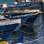 Italy, Sicily, Marina di Ragusa, fishing boats in the port — Stock Photo #6443902