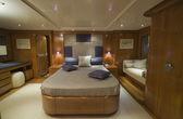 Italy, S.Felice Circeo, luxury yacht Rizzardi Posillipo Technema 95' — Stock Photo