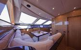 Italy, Tuscany, Viareggio, Tecnomar 35 Fly luxury yacht — Stok fotoğraf