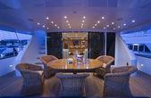 Italy, Tuscany, Viareggio, Tecnomar 35 Fly luxury yacht — Stock Photo