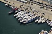 İtalya, toskana, viareggio, lüks yatlar port, havadan görünümü — Stok fotoğraf