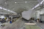 Italia, toscana, viareggio, tecnomar 35 abierto lujoso yate en construcción — Foto de Stock