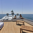 Italy, Tirrenian sea, off the coast of Viareggio, Tuscany, luxury yacht Tec - Stock Photo
