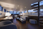 Italy, luxury yacht Tecnomar 36 (36 meters), dinette — Stock Photo