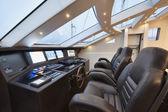 Italy, Tuscany, Viareggio port, luxury yacht Tecnomar 36 — Stock Photo