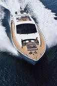 Italy, Tirrenian sea, off the coast of Viareggio, Tuscany, luxury yacht Tec — Stock Photo