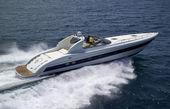 Italy, Tuscany, Viareggio, Tecnomar Madras 20 luxury yacht — Stock Photo