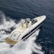 Stock Photo: Italy, Tuscany, Viareggio, Tecnomar Madras 20 luxury yacht