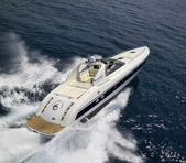 Italy, Tuscany, Viareggio, Tecnomar Madras 20 luxury yacht — Stock Photo