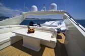 Italy, Tuscany, Viareggio, Tecnomar Nadara 88' Fly luxury yacht — Stock Photo