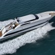 Italy, Tirrenian sea, off the coast of Viareggio, Tecnomar Velvet 90 luxury - Stock Photo