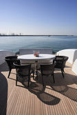 Italy, Tuscany, Viareggio, Tecnomar Velvet 90 luxury yacht — Stock Photo