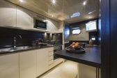 Italy, Tuscany, Viareggio, Tecnomar Velvet 90' luxury yacht — Stock Photo