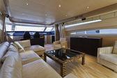 Italy, Tuscany, Viareggio, Tecnomar Velvet 83 luxury yacht — Stock Photo
