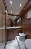 Italy, Tuscany, Viareggio, Tecnomar Velvet 83 luxury yacht — Stok fotoğraf