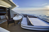 Italy, Tuscany, Viareggio, Tecnomar Velvet 83 luxury yacht — Stock Photo