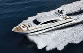 Italy, Tuscany, Tecnomar Velvet 100 luxury yacht — Stock Photo