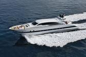 Italy, Tuscany, Tecnomar Velvet 100 luxury yacht — Stock Photo