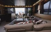 Italy, Tuscany, Viareggio, Tecnomar Velvet 100' luxury yacht — Stock Photo