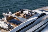 Yacht di lusso italia, tirreno, tecnomar 35 — Foto Stock