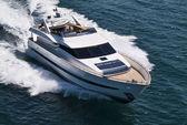Italy, Tyrrhenian Sea, Tecnomar 35 luxury yacht — Stock Photo
