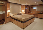 Italy, Viareggio (Tuscany), Tecnomar 35 luxury yacht — Stock Photo
