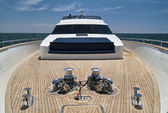 Italy, Tyrrhenian Sea, Tecnomar 35 luxury yacht — Stock Photo