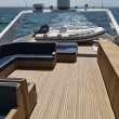 Italy, Tyrrhenian Sea, Tecnomar 35 luxury yacht, flybridge — Stock Photo