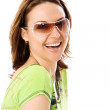 Portrait of the beautiful girl in sunglasses — Stock Photo