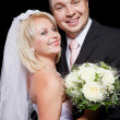 Studio shot of wedding couple — Stock Photo