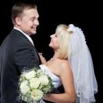 Studio shot of wedding couple — Stock Photo