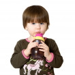 Little girl drinking water. — Stock Photo