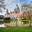 Neus Rathaus Hannover, The New Town City Hall — Stock Photo #6023744