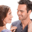 Young couple in love, close up - Stock Photo