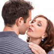 Young couple in love, close up — Stock Photo
