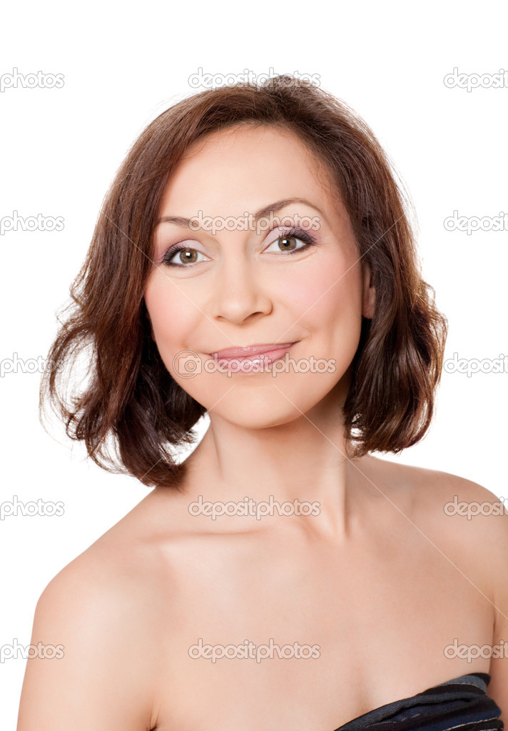 Portrait  of professional model without make-up — Stock Photo #6033572