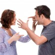 angry couple yelling at each other — Stock Photo #6040027