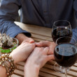 Stock Photo: Man and women hands with vine