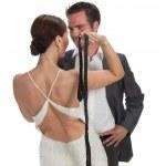 Fashion couple, studio shot — Stock Photo #6040526