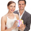 Royalty-Free Stock Photo: Fashion couple, studio shot