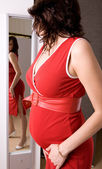 21 weeks happy pregnant woman — Stock fotografie