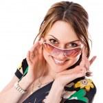Beautiful woman with sunglasses — Stock Photo