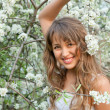 Beautiful spring portrait - Stock Photo